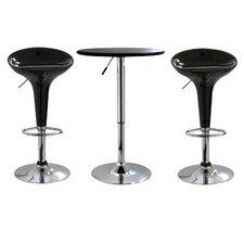 AmeriHome 3 Piece Adjustable Height Pub Table Set