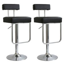 Ameri Home Adjustable Height Swivel Bar Stool with Cushion (Set of 2)