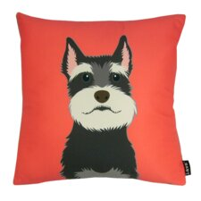 Schnauzer Synthetic Throw Pillow