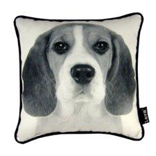 Beagle Synthetic Throw Pillow