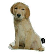 Golden Retriever Puppy Shaped Indoor/Outdoor Throw Pillow