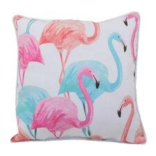 Flamingo Fam Indoor/Outdoor Throw Pillow