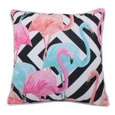 Geo Flamingo Indoor/Outdoor Throw Pillow