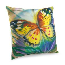 Lava  Butterfly Throw Pillow