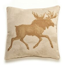 Lava Moose Etching Throw Pillow