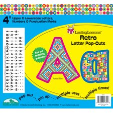 Retro Pop-Outs Letters & Numbers