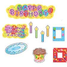 Mini Birthdays Bulletin Board Cut Out