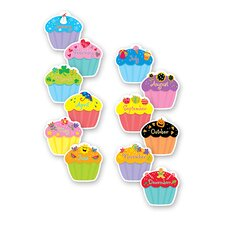 Cupcakes Designer Bulletin Board Cut Out