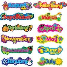 Seasonal Months of The Year Calendar