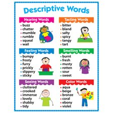 Descriptive Words Grade 1-3 Chart (Set of 3)