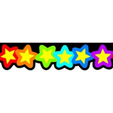 Rainbow of Stars Classroom Border (Set of 2)