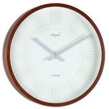 "15.36"" Round Wooden Case Wall Clock"