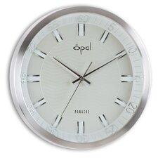 """14"""" Round Aluminium Case Wall Clock"""