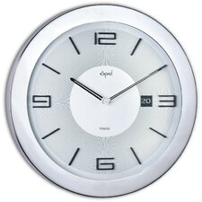 """16"""" Stainless Steel Round Case Wall Clock"""