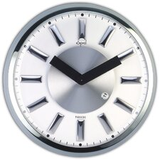 """13"""" Stainless Steel Round Case Wall Clock"""