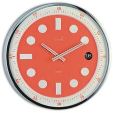 Stainless Steel Round Case Wall Clock