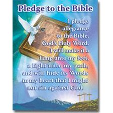 Pledge to The Bible Poster