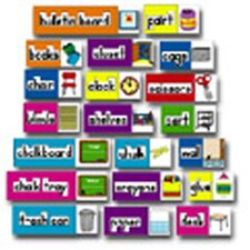 Print-rich Classroom Labels Bulletin Board Cut Out Set