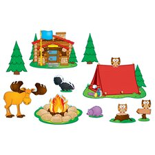 Camping Bulletin Board Cut Out Set