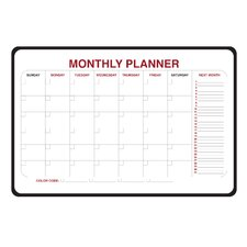 Monthly Planner Whiteboard, 2' H x 3' W