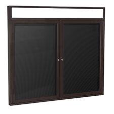 2 Door Aluminum Frame Enclosed Letter Board
