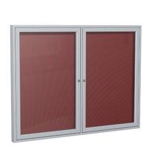 2-Door Aluminum Frame Enclosed Letter Board