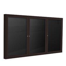 3 Door Aluminum Frame Enclosed Letter Board
