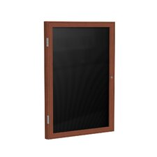 1-Door Wood Frame Enclosed Letter Board