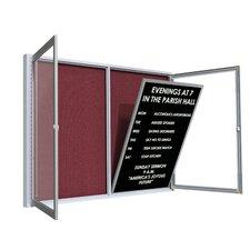 Satin Aluminum Frame Flannel Enclosed Letter Board