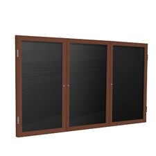 3-Door Wood Frame Enclosed Letter board