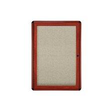 Ovation 1 Door Enclosed Bulletin Board, 3' H x 2' W