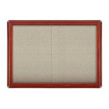 Ovation Sliding Door Enclosed Bulletin Board, 3' H x 4' W