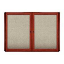 Ovation 2 Door Enclosed Bulletin Board