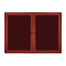 Ovation 2-Door Ovation Wood Look Felt Letter Board