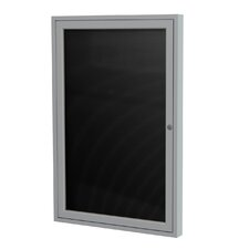 1-Door Aluminum Frame Enclosed Letter Board