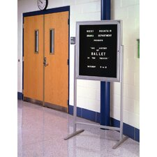 Sentry Enclosed Free-Standing Letter Board, 3' H x 3' W