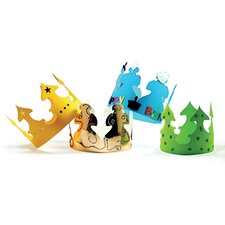 Bright Gold Tag Crowns (Set of 24)