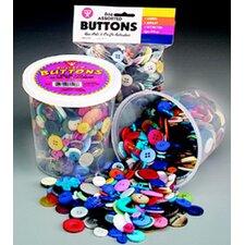 Asst Buttons 16 Oz Bucket