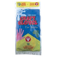 Craft Gloves Adult Size 10 P (Set of 3)