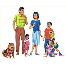 Asian Family Bulletin Board Cut Out Set