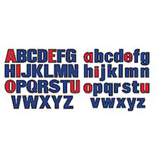 Upper and Lower Case Bulletin Board Cut Out