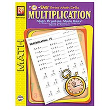 Multiplication Easy Timed Math Book