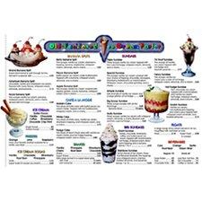 Menu Math Ice Cream Parlor Extra Chart