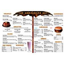 Menu Math Hamburger Hut Extra Educational Tool