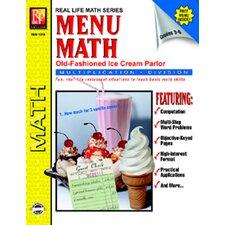 Menu Math Ice Cream Parlor Book
