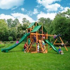 Great Skye II with Amber Posts and Canopy Cedar Swing Set