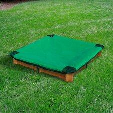 Interlocking 3.62 ft. Square Sandbox with Cover