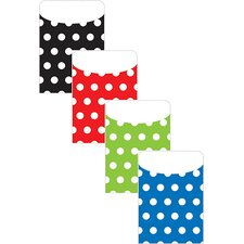 Brite Pockets Asst Polka Dots File Folder (Set of 2)