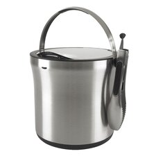 Steel Ice Bucket and Tong Set