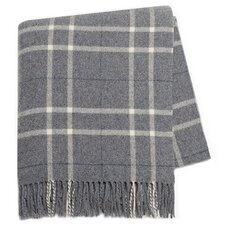Italian Cashmere and Lambswool Plaid Natural Fiber Throw